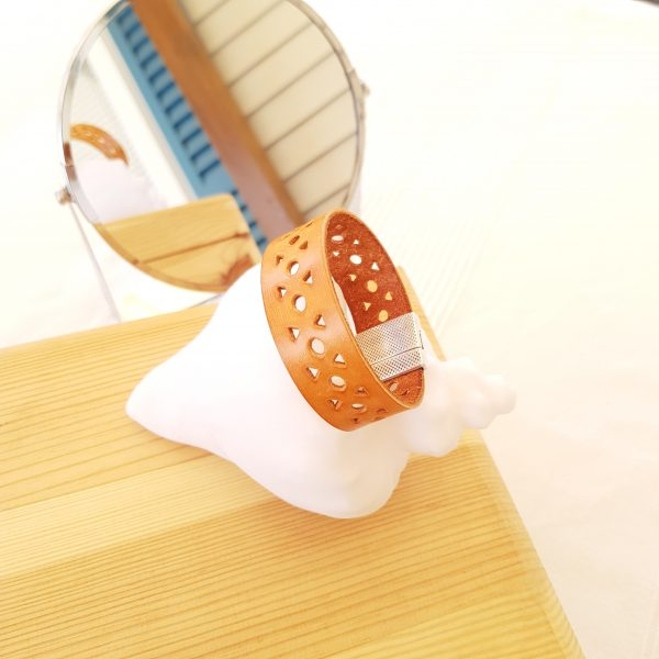 Bracelet cuir - Géométrie